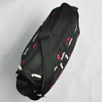 man and woman use BAG * pretty shoulder bag Le Sportsac embroidery kchi Bill black