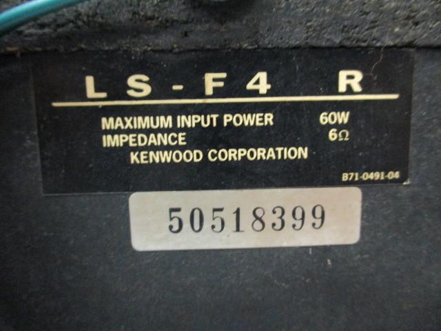 ジャンク品★KENWOOD(ケンウッド)3WAY コンパクトスピーカー 左右ペア LS-F4★Ke-1 _画像8