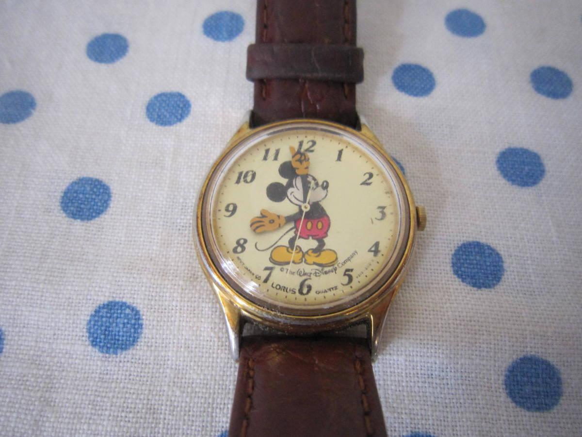 ◎*。  古いミッキーマウス 腕時計 ヴィンテージ レトロ  ディズニー ジャンク ① 。*◎_画像1