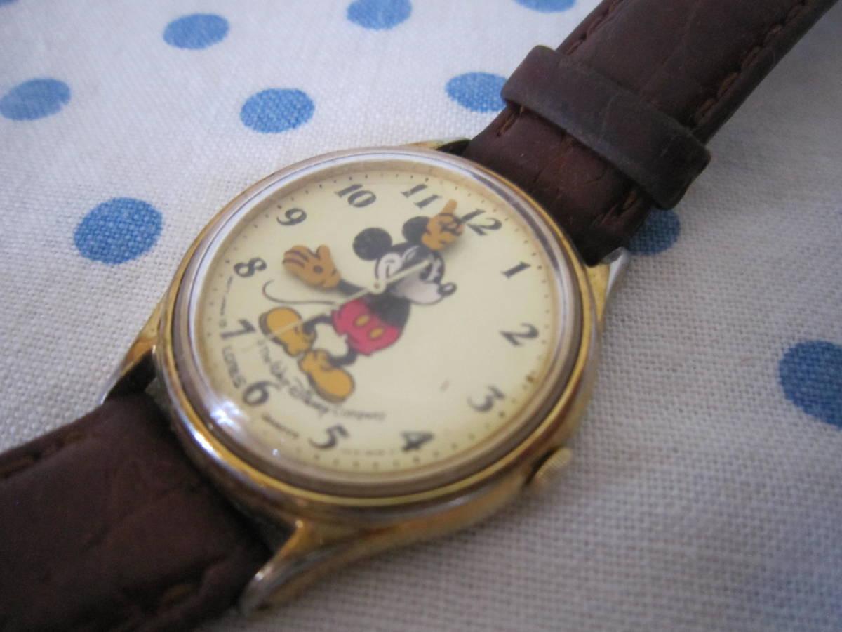 ◎*。  古いミッキーマウス 腕時計 ヴィンテージ レトロ  ディズニー ジャンク ① 。*◎_画像6