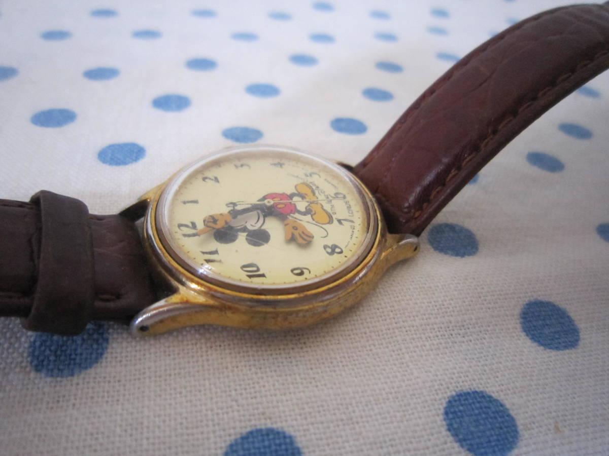 ◎*。  古いミッキーマウス 腕時計 ヴィンテージ レトロ  ディズニー ジャンク ① 。*◎_画像7