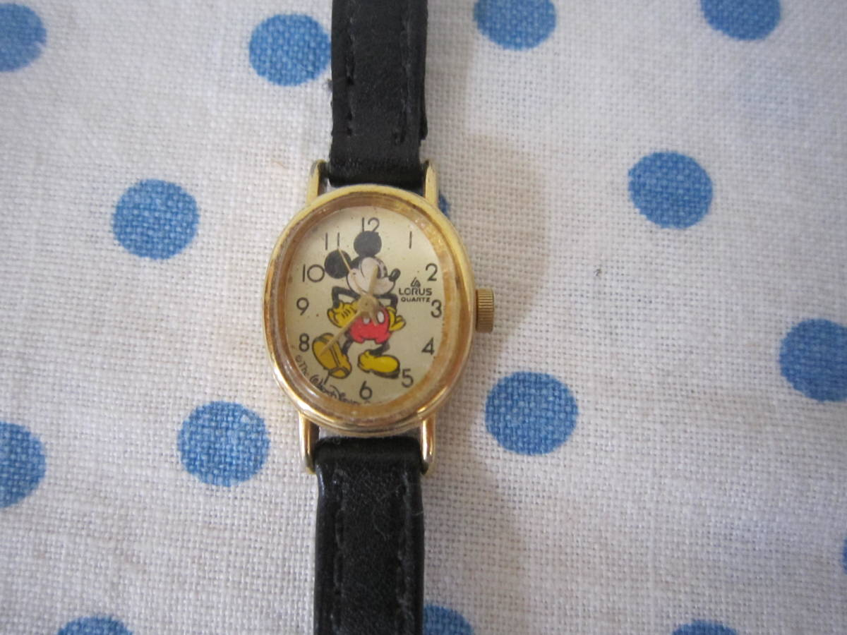 ◎*。  古いミッキーマウス 腕時計 ヴィンテージ チャイルド用 レトロ  ディズニー ジャンク ③ 。*◎_画像1
