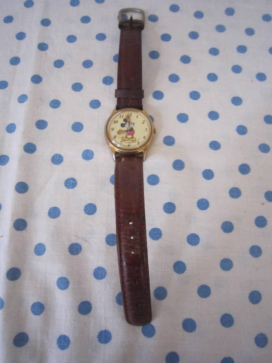 ◎*。  古いミッキーマウス 腕時計 ヴィンテージ レトロ  ディズニー ジャンク ① 。*◎_画像2