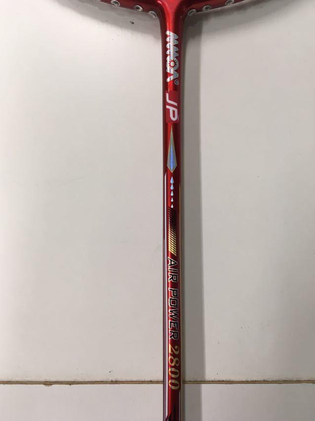 【正規品】モア AIR POWER 2800 YONEX ヨネックス バドミントンラケット ナノレイ800_画像2
