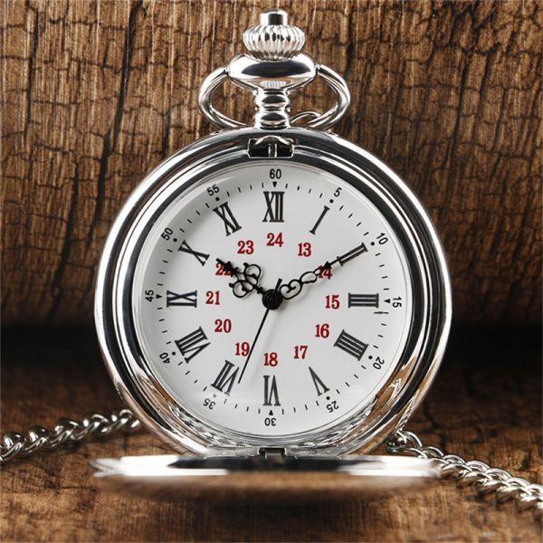新着シルバークォーツ懐中時計メンズレディースショートダイヤルメンズレディース最高ギフト_画像1