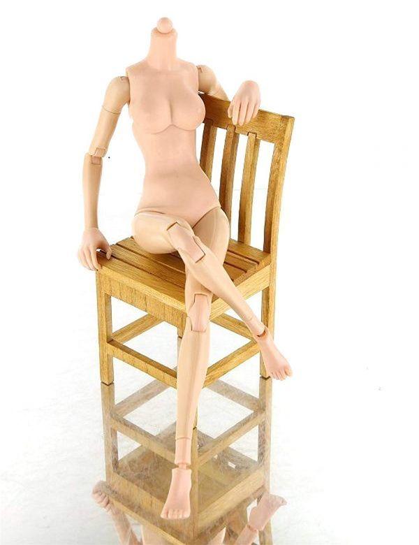 1/6 素体 女性 アクション フィギュア デッサン 人形 可動式 ドール 全長 約 25.5cm【定形外(送料全国一律350円)】_画像4