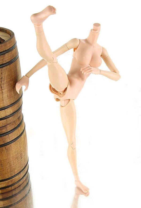 1/6 素体 女性 アクション フィギュア デッサン 人形 可動式 ドール 全長 約 25.5cm【定形外(送料全国一律350円)】_画像5
