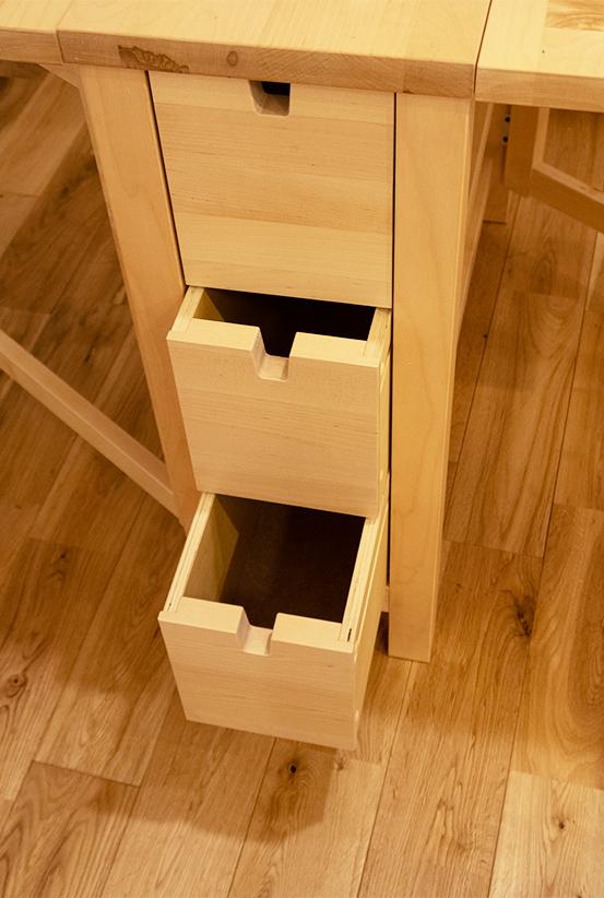 IKEA イケア NORDEN ノールデン ゲートレッグテーブル バーチ バタフライテーブル _画像6