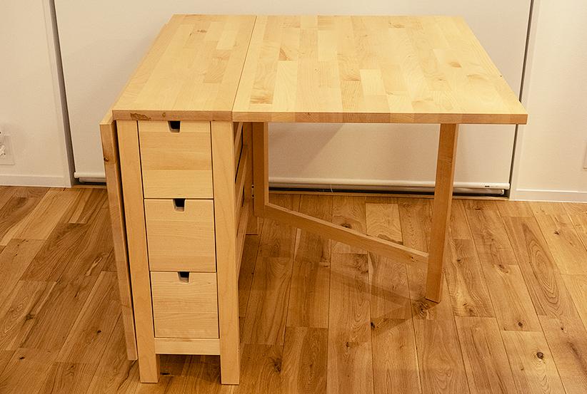 IKEA イケア NORDEN ノールデン ゲートレッグテーブル バーチ バタフライテーブル _画像2