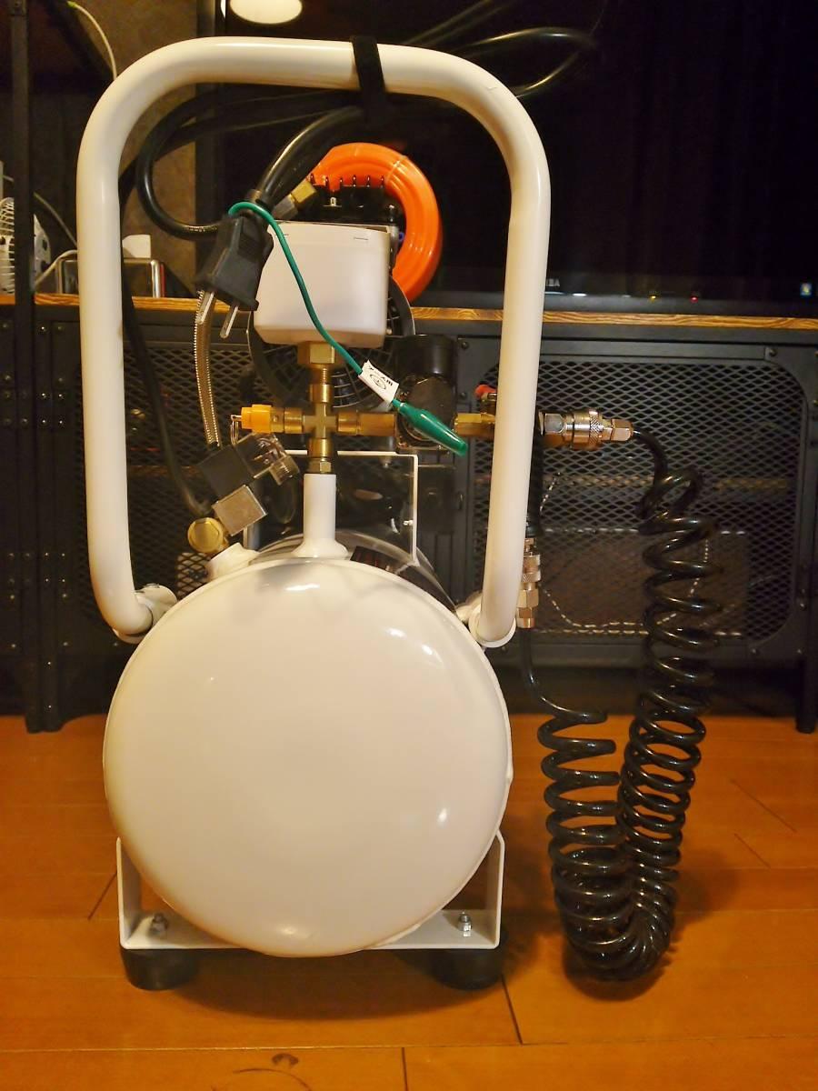 ◆ 美品 ◆ 静音 25L アルミタンク オイルレス エアーコンプレッサー ◆ おまけ ストレート・スパイラルホース エアダスター ◆ TINOVA ◆_画像3