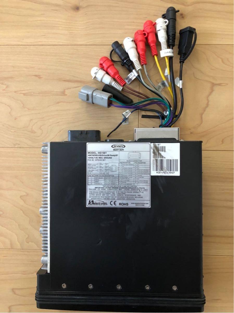 JENSEN/HD1BT 純正互換デッキ 4CHアンプ内蔵 ブルートゥース、iPOD対応 ジェンセン ハーレー オーディオ Bluetooth _画像2