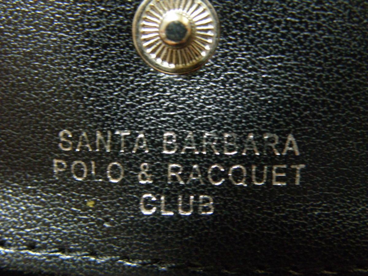 ◆S11◆ SANTA BARBARA POLO & RACQUET CLUB ポロクラブ 小銭入れ コインケース 財布 黒系 定形外郵便 クリックポスト_画像4