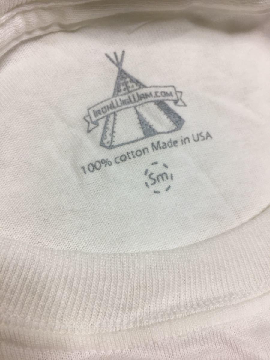 ハリーズ モータース インディアン ロング Tシャツ 未使用品 モーターサイクル S-M made in USA 綿100% 長袖 両面 プリント_画像5