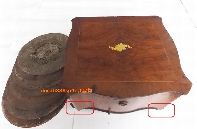 1800年代製造 ポリフォン POLYPHON ディスク型 オルゴール ディスク 10枚付き_画像2