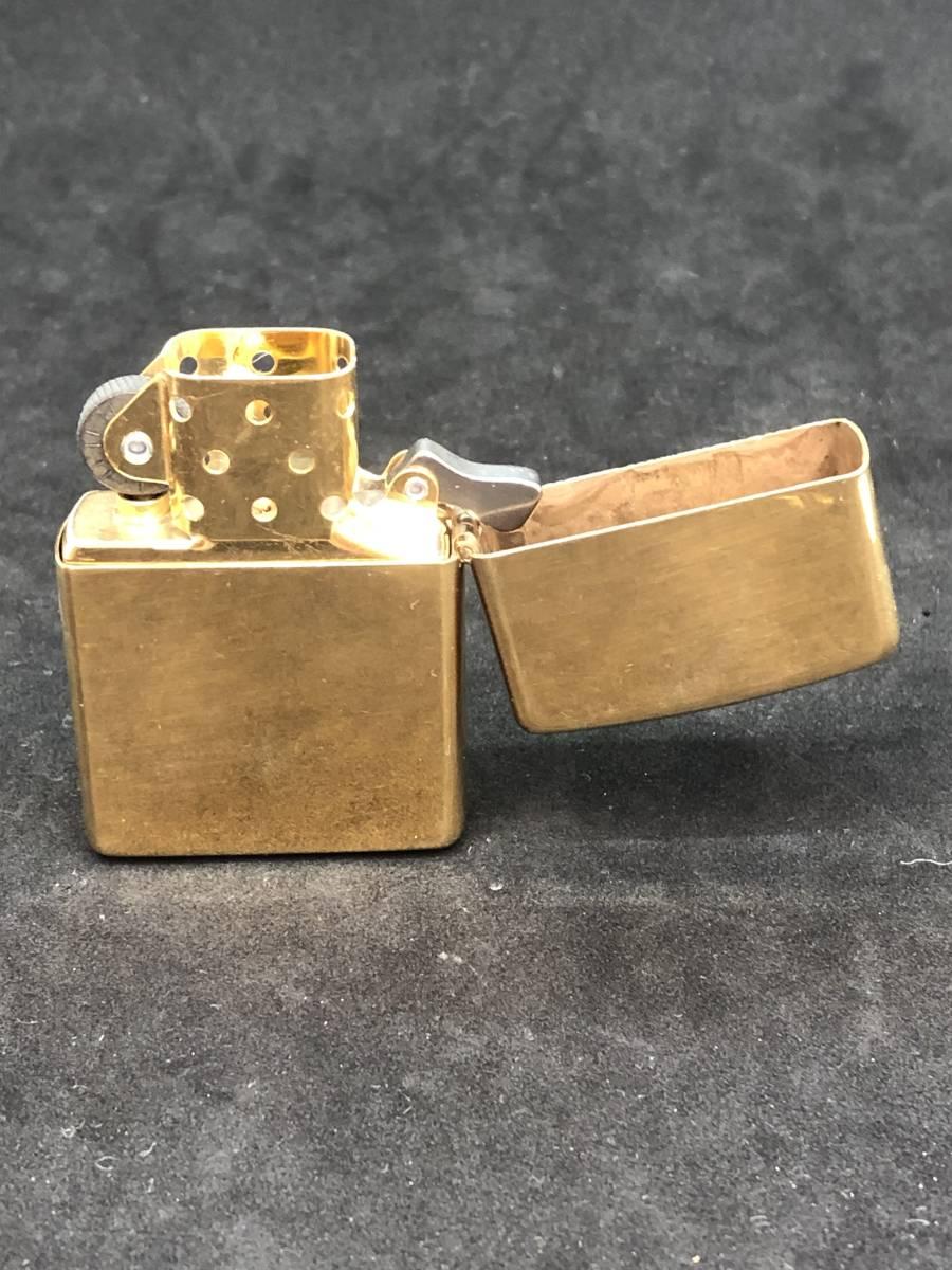 レア 未使用 展示品 Zippo ビンテージ コレクター保管品 ゴールド インディアン_画像3