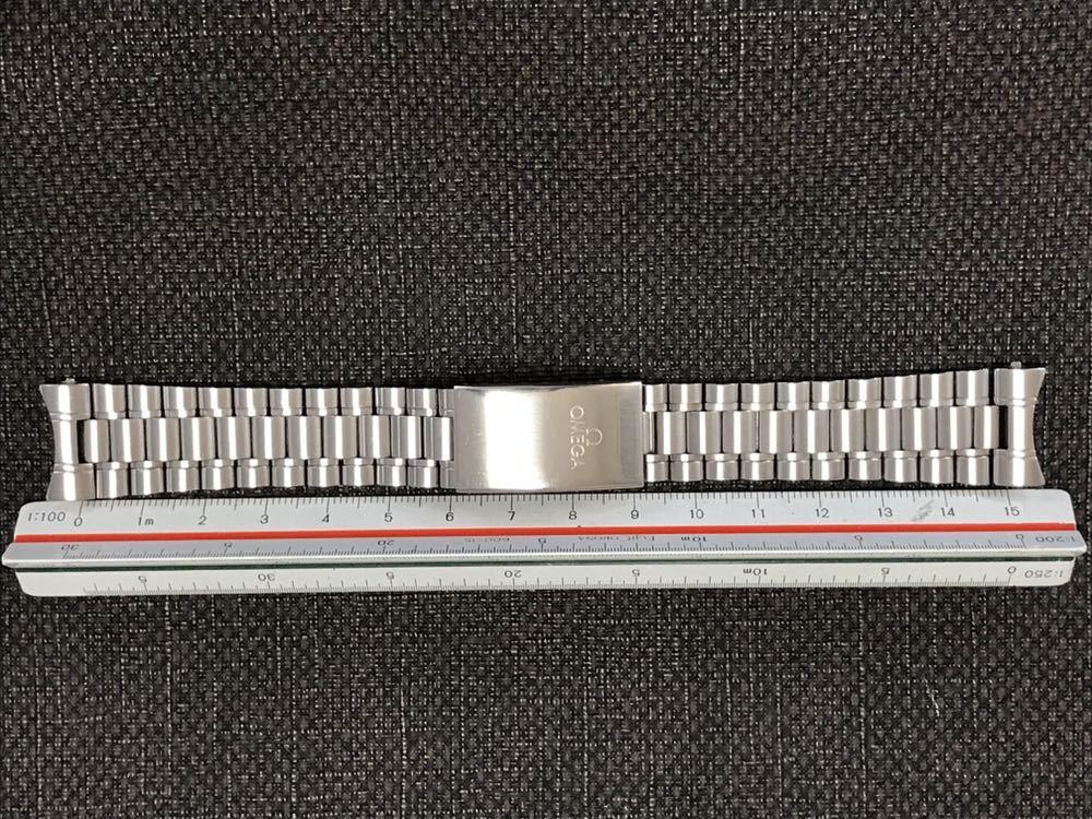 オメガ ステンレスベルト 1570/870 ラグ幅19mm 全長16cm OMEGA stainless steel bracelet 30-1_画像10