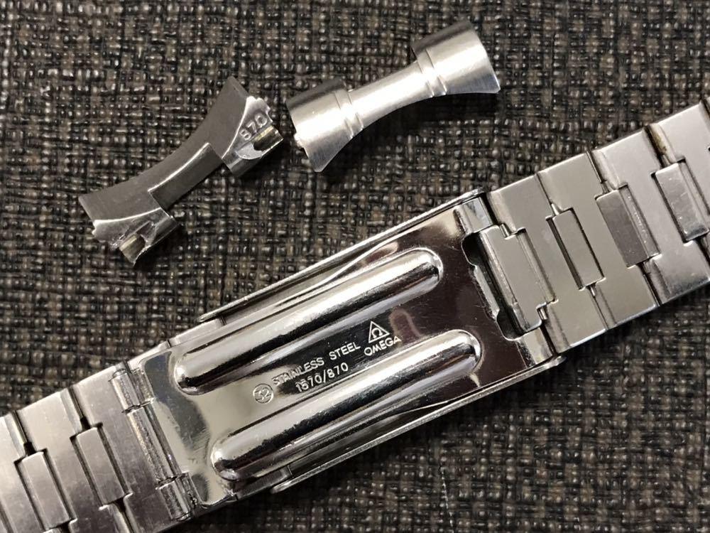 オメガ ステンレスベルト 1570/870 ラグ幅19mm 全長16cm OMEGA stainless steel bracelet 30-1_画像5
