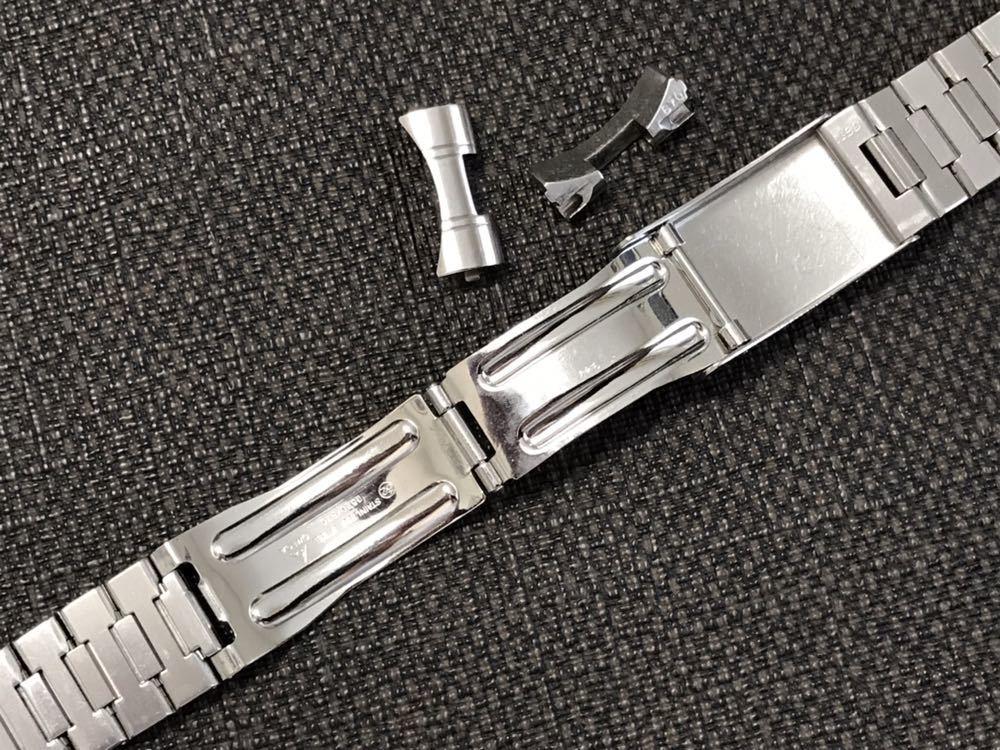 オメガ ステンレスベルト 1570/870 ラグ幅19mm 全長16cm OMEGA stainless steel bracelet 30-1_画像8
