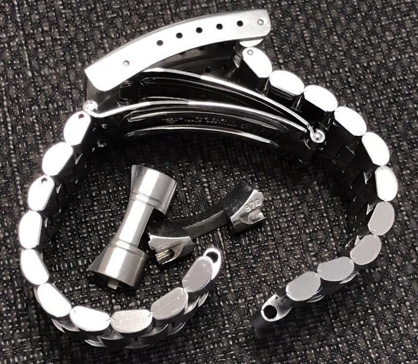 オメガ ステンレスベルト 1570/870 ラグ幅19mm 全長16cm OMEGA stainless steel bracelet 30-1_画像9