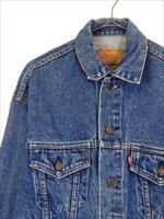 古着 ジャケット 90s USA製 Levi's リーバイス 70507 ハンド ポケット付 インディゴ デニム ジャケット Gジャン S 古着_画像2