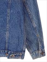 古着 ジャケット 90s USA製 Levi's リーバイス 70507 ハンド ポケット付 インディゴ デニム ジャケット Gジャン S 古着_画像6