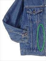 古着 ジャケット 90s USA製 Levi's リーバイス 70507 ハンド ポケット付 インディゴ デニム ジャケット Gジャン S 古着_画像4