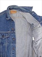 古着 ジャケット 90s USA製 Levi's リーバイス 70507 ハンド ポケット付 インディゴ デニム ジャケット Gジャン S 古着_画像7