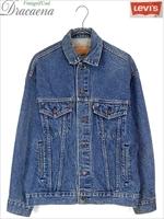 古着 ジャケット 90s USA製 Levi's リーバイス 70507 ハンド ポケット付 インディゴ デニム ジャケット Gジャン S 古着