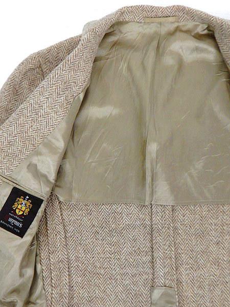 古着 ジャケット 80s wynn's × Harris Tweed ハリス ツイード ウール テーラード ジャケット 38位 古着_画像6