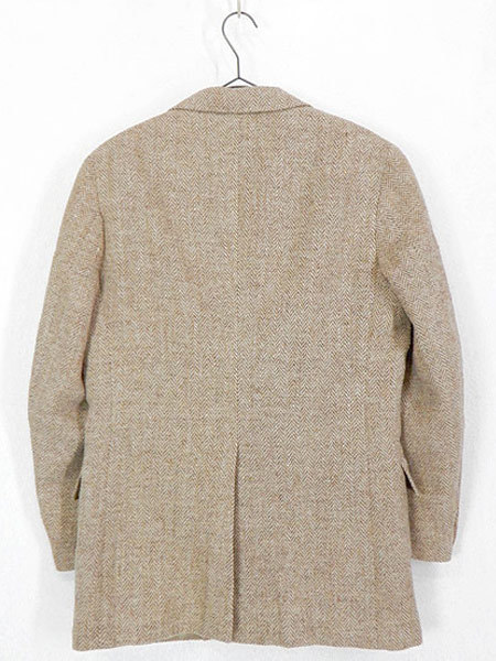 古着 ジャケット 80s wynn's × Harris Tweed ハリス ツイード ウール テーラード ジャケット 38位 古着_画像3