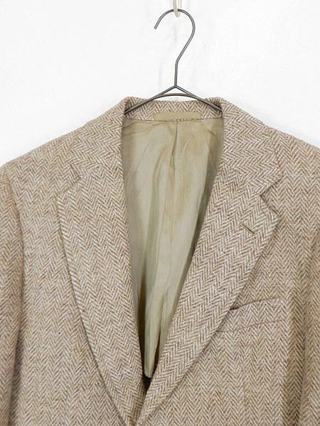 古着 ジャケット 80s wynn's × Harris Tweed ハリス ツイード ウール テーラード ジャケット 38位 古着_画像2
