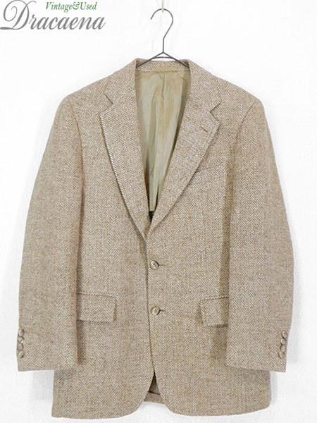 古着 ジャケット 80s wynn's × Harris Tweed ハリス ツイード ウール テーラード ジャケット 38位 古着_画像1