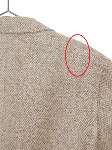 古着 ジャケット 80s wynn's × Harris Tweed ハリス ツイード ウール テーラード ジャケット 38位 古着_画像4