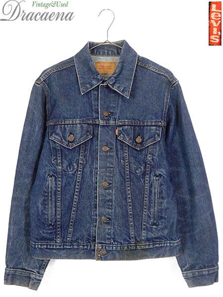古着 ジャケット 90s USA製 Levi's 70506 ハンド ポケット付 濃紺 インディゴ デニム ジャケット Gジャン 40 古着_画像1