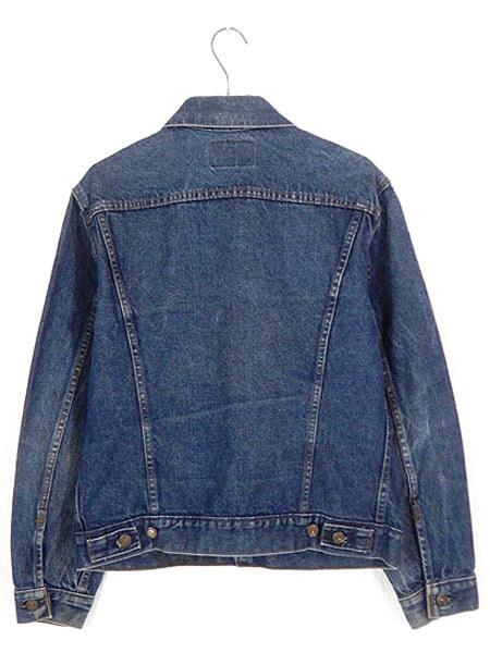 古着 ジャケット 90s USA製 Levi's 70506 ハンド ポケット付 濃紺 インディゴ デニム ジャケット Gジャン 40 古着_画像4
