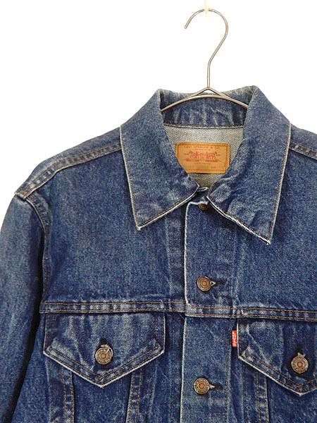 古着 ジャケット 90s USA製 Levi's 70506 ハンド ポケット付 濃紺 インディゴ デニム ジャケット Gジャン 40 古着_画像2