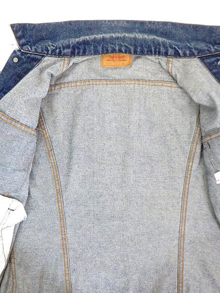 古着 ジャケット 90s USA製 Levi's 70506 ハンド ポケット付 濃紺 インディゴ デニム ジャケット Gジャン 40 古着_画像7