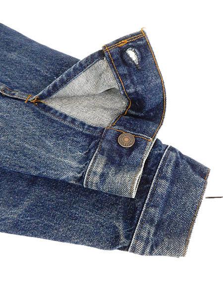 古着 ジャケット 90s USA製 Levi's 70506 ハンド ポケット付 濃紺 インディゴ デニム ジャケット Gジャン 40 古着_画像5