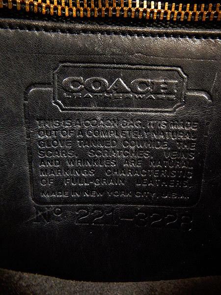 古着 バッグ USA製 OLD COACH コーチ フラップ レザー ショルダー バッグ 中型 黒 ブランド 雑貨 古着?_画像8