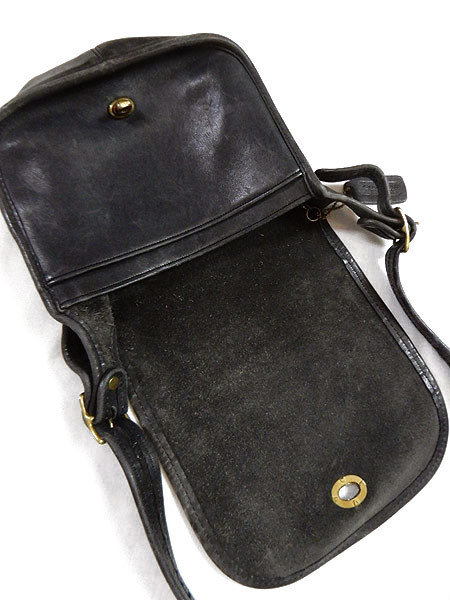 古着 バッグ USA製 OLD COACH コーチ フラップ レザー ショルダー バッグ 中型 黒 ブランド 雑貨 古着?_画像6