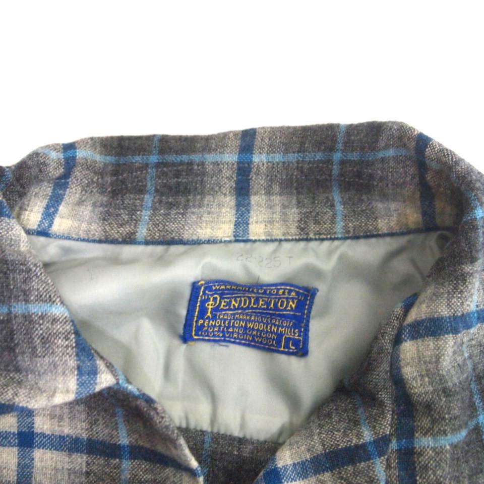 [L] 50s PENDLETON ウール シャツ ループカラー ペンドルトン シャドー チェック pendleton 50年代 ビンテージ vintage_画像5