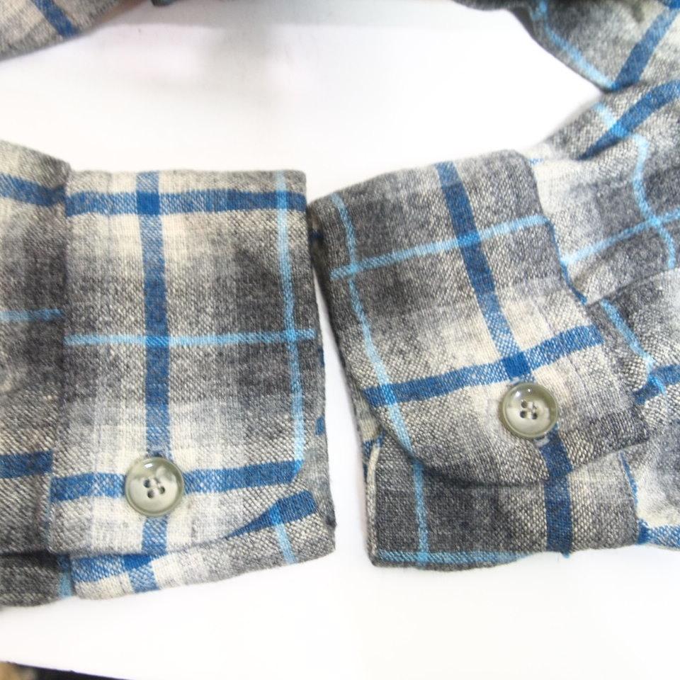 [L] 50s PENDLETON ウール シャツ ループカラー ペンドルトン シャドー チェック pendleton 50年代 ビンテージ vintage_画像7