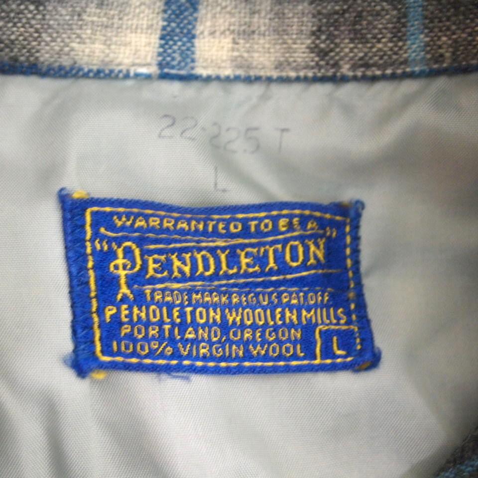 [L] 50s PENDLETON ウール シャツ ループカラー ペンドルトン シャドー チェック pendleton 50年代 ビンテージ vintage_画像3