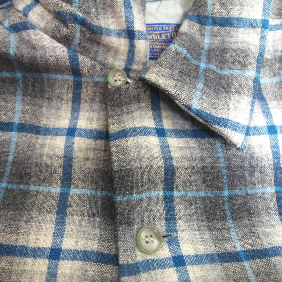 [L] 50s PENDLETON ウール シャツ ループカラー ペンドルトン シャドー チェック pendleton 50年代 ビンテージ vintage_画像4