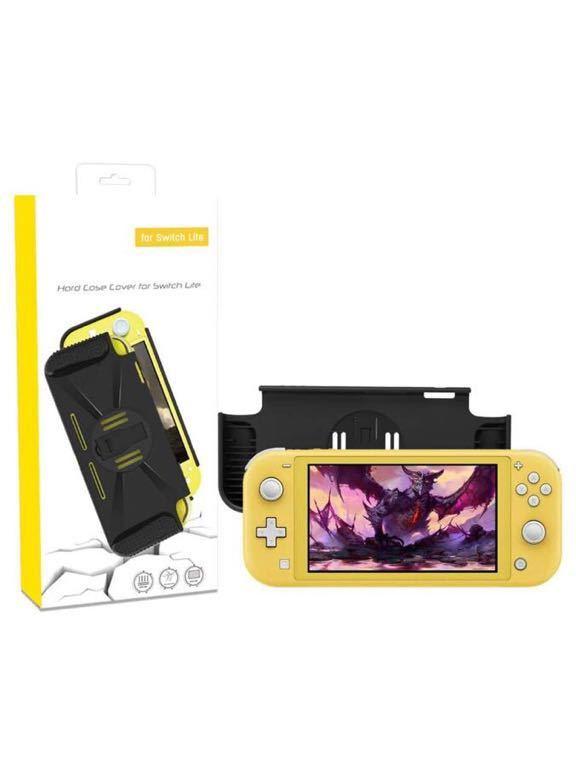 Nintendo Switch Lite用保護ケース、Nintendo Switch Lite用ハードカバーケース、コンフォートパッド付き(ブラック)