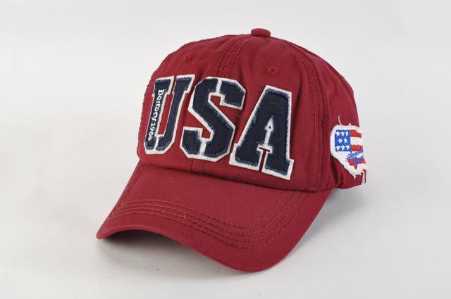 野球帽 スナップバックN02ワインレッド 星条旗USAロゴ キャップ ヴィンテージ風 ワッペン 刺繍 薄手 男女兼用 帽子 メンズ レディース 新品_画像1