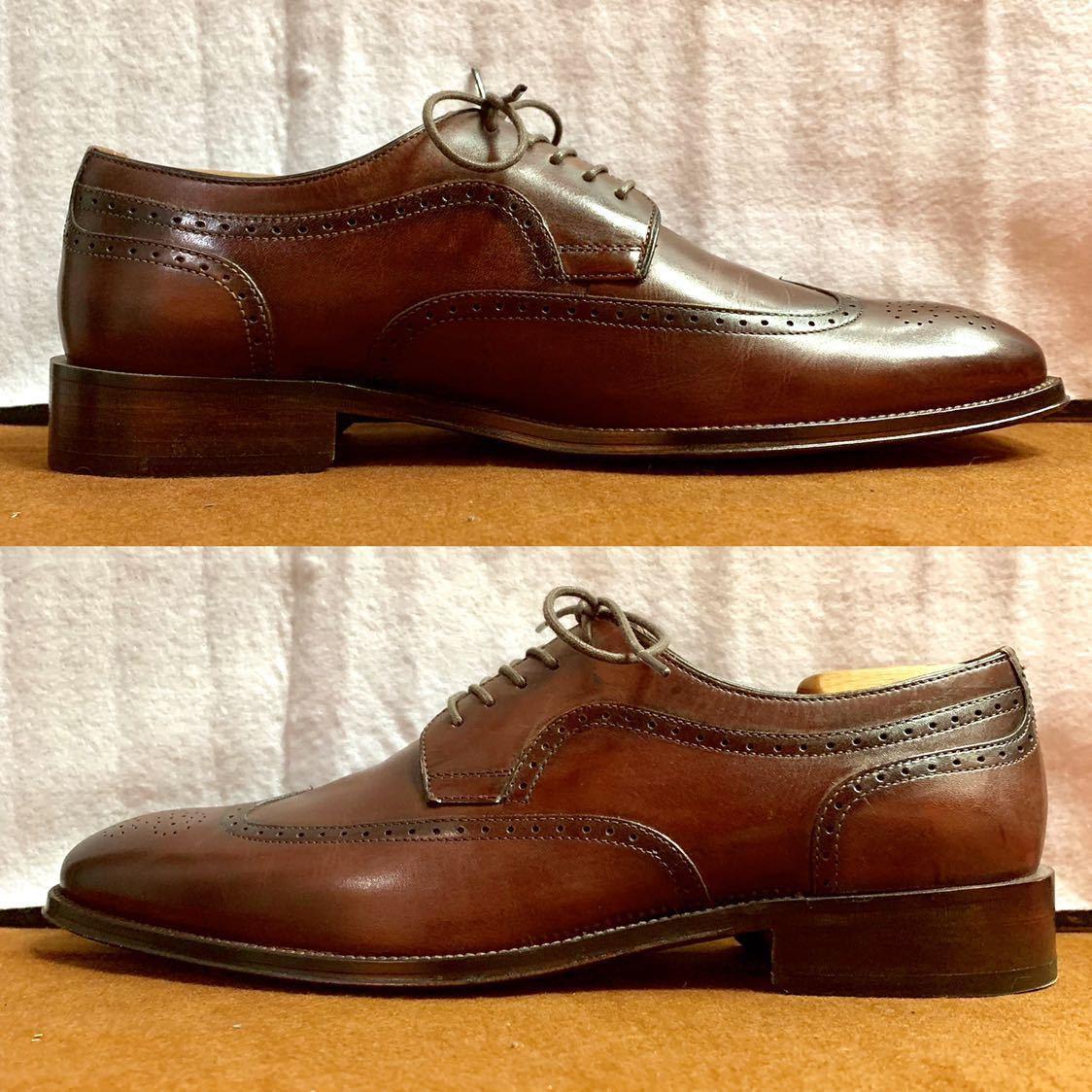 【未使用品】Johnston&Murphy ジョンストン&マーフィー ウイングチップ US 9 M 27cm相応 赤茶 革靴 アメリカ靴_画像8