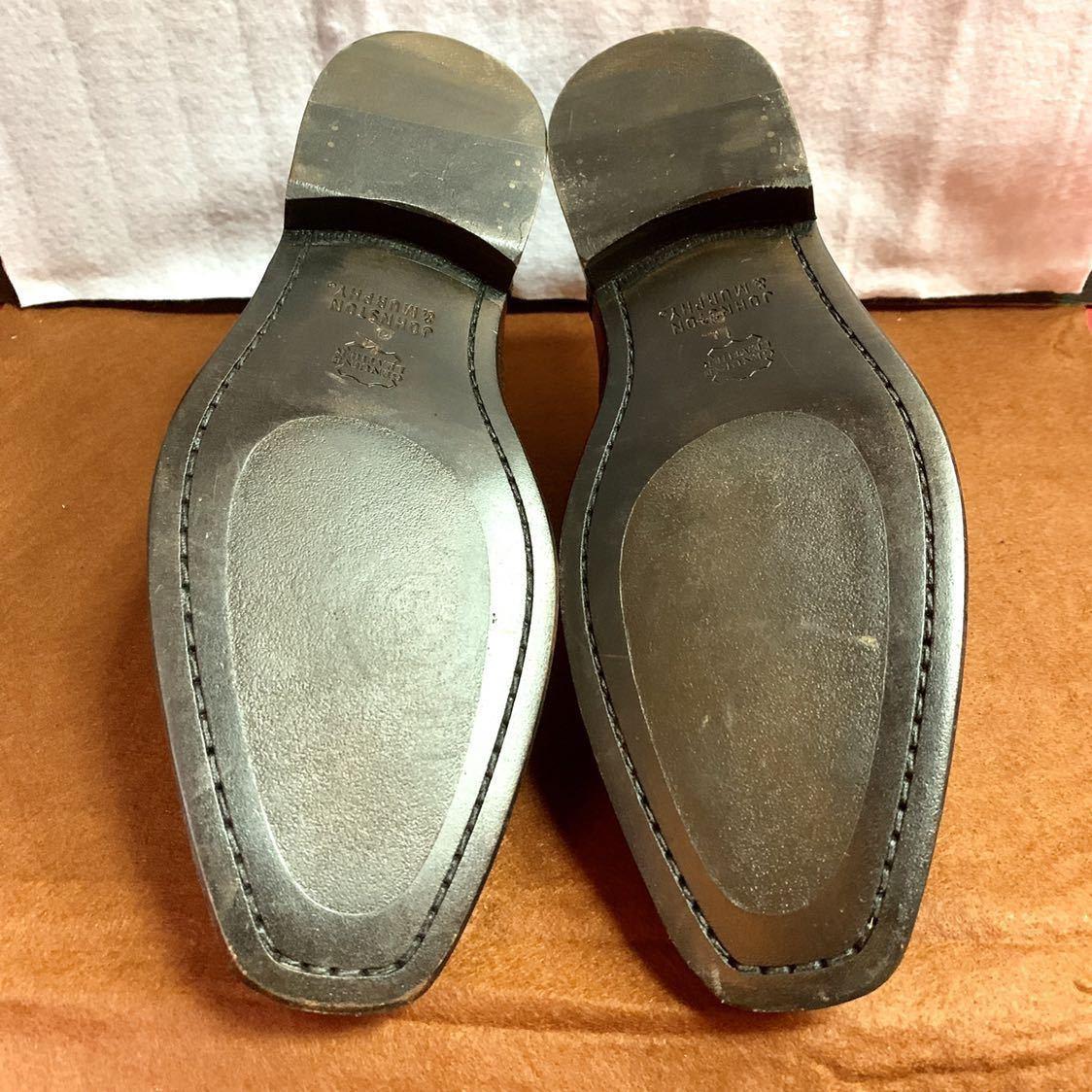 【未使用品】Johnston&Murphy ジョンストン&マーフィー ウイングチップ US 9 M 27cm相応 赤茶 革靴 アメリカ靴_画像3