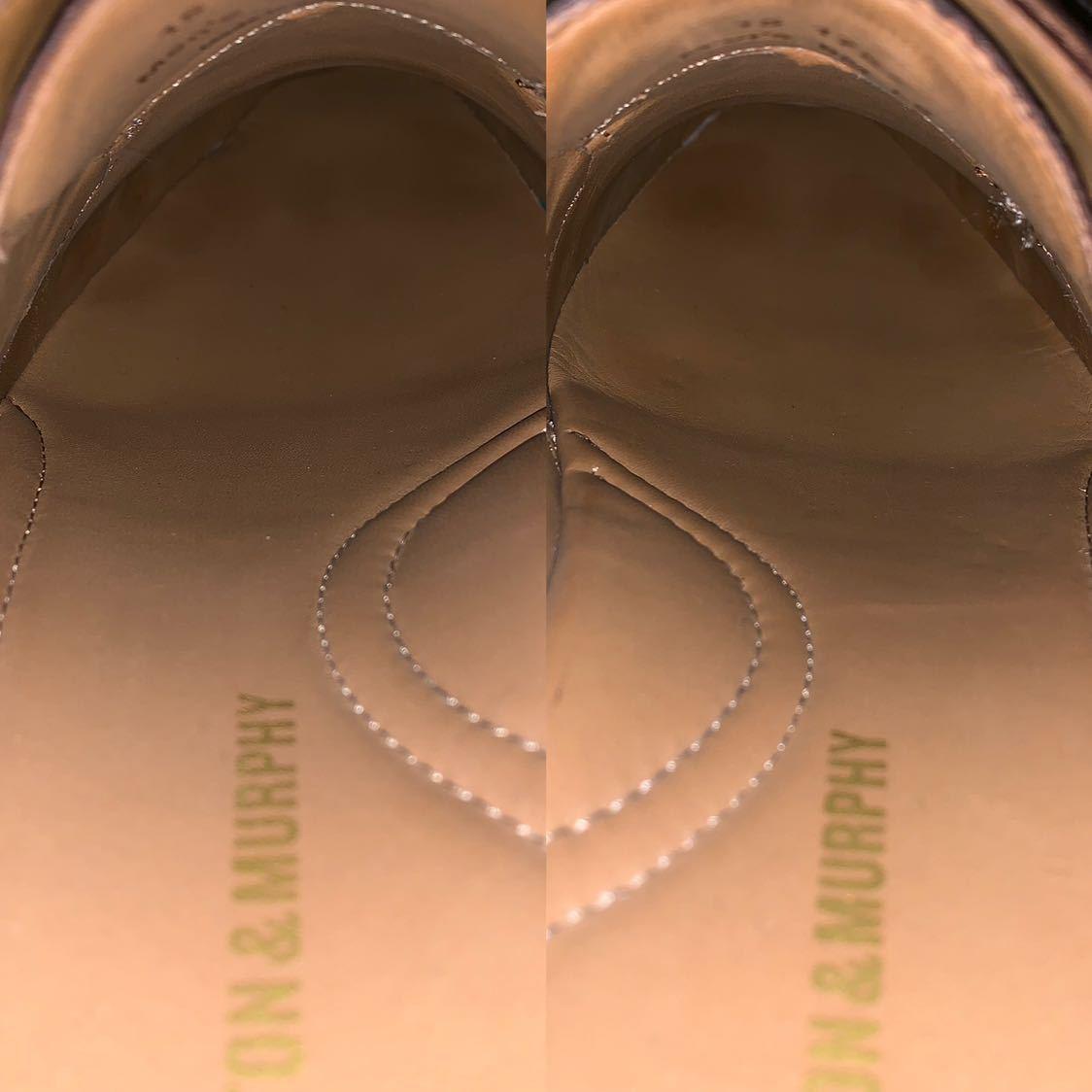 【未使用品】Johnston&Murphy ジョンストン&マーフィー ウイングチップ US 9 M 27cm相応 赤茶 革靴 アメリカ靴_画像9