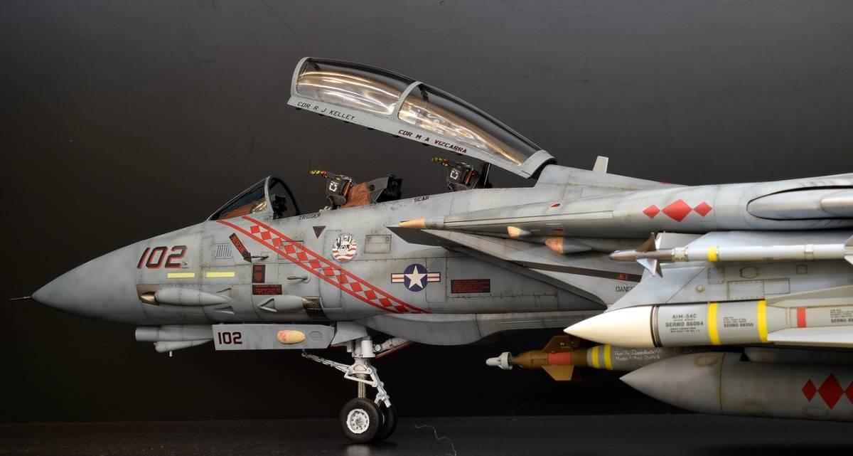 模型誌掲載作例 タミヤ1/32 F-14B 完成品_画像5